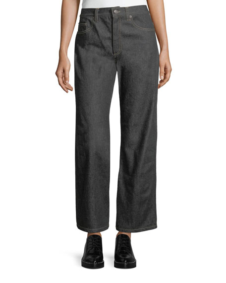 PNT DENIM CROPPED WIDE LEG