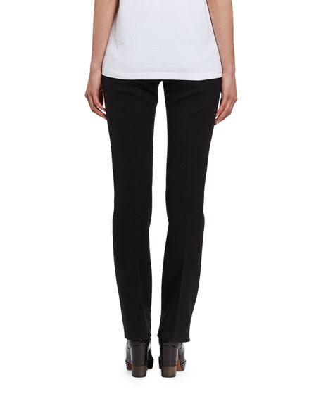 Low-Rise Wool Trousers