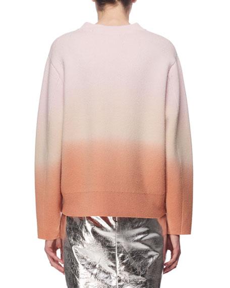 Dip-Dye Wool-Cashmere Sweater, Pink