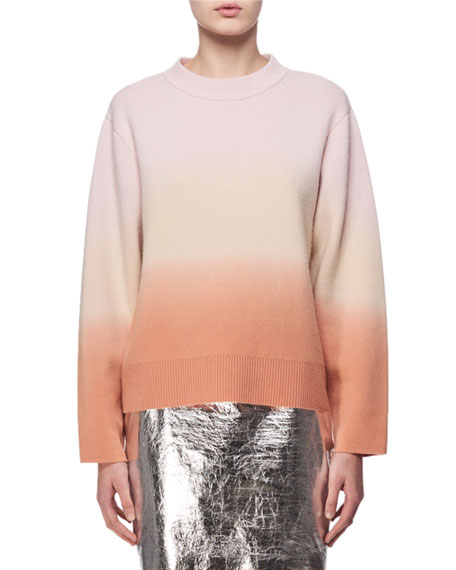 Proenza Schouler Metallic Leather Mini Skirt, Silver and