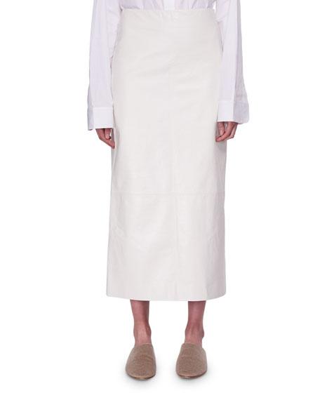 Terst Lambskin Leather Midi Skirt
