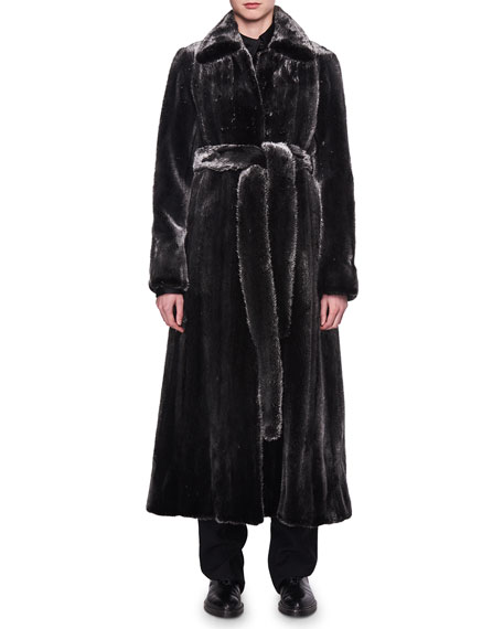 THE ROW Neyton Belted Mink Fur Coat and