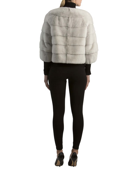 Mink Fur 3/4-Sleeve Jacket