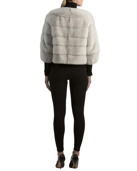 Mink Fur 3/4-Sleeve Jacket