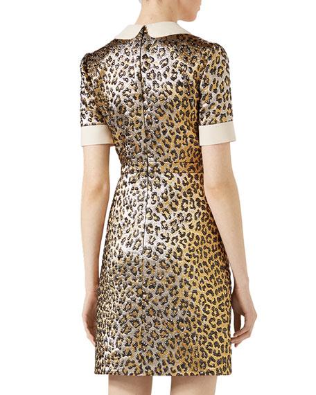Leopard Lurex® Jacquard Dress