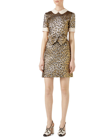 Gucci Leopard Lurex?? Jacquard Dress