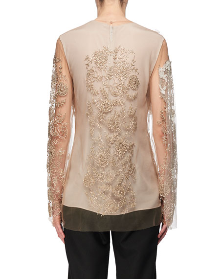 Layered Lace & Tulle Tunic