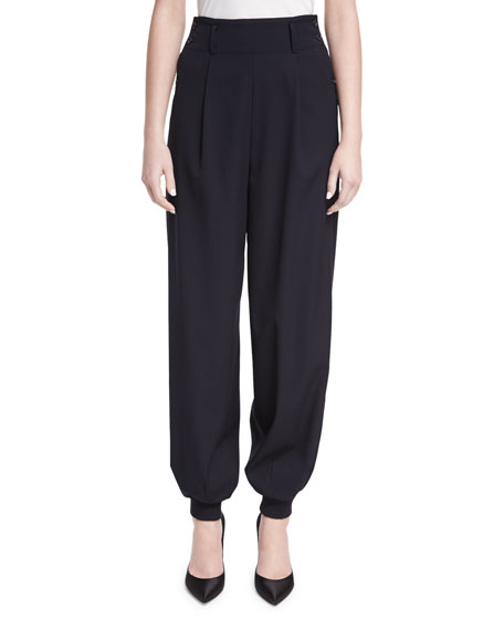 Ralph Lauren Collection Silviana Virgin Wool Jogger Pants
