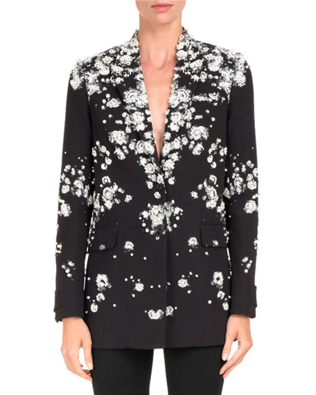 Baby's Breath Blazer with Pearly Embellishments