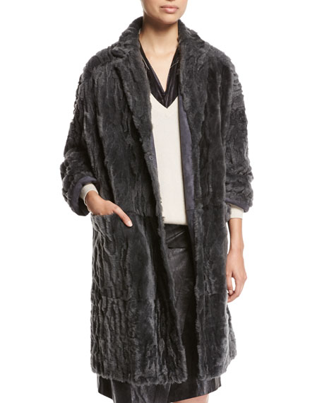 Brunello Cucinelli Animale Reversible Shearling Coat