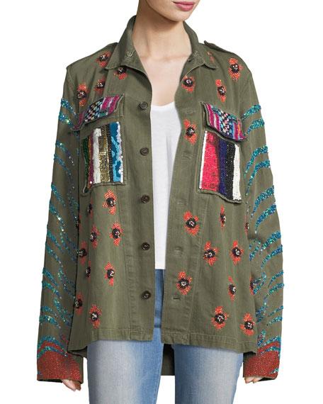 Libertine Love Embellished Army Jacket