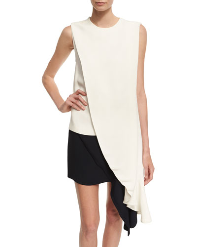 Draped Sable High-Low Top