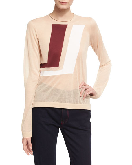 CALVIN KLEIN 205W39NYC Two-Tone Graphic Sweater