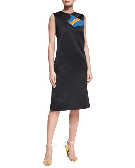 CALVIN KLEIN 205W39NYC Sleeveless Midi Dress with Striped