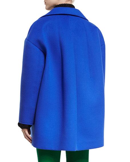 Oversized Notch-Collar Coat