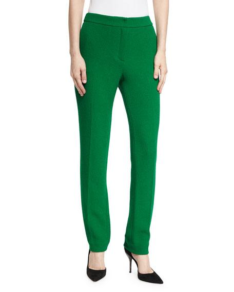 Oscar de la Renta Wool Crepe Pants