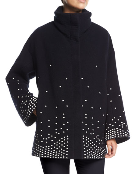 Ralph Embroidered Cashmere Caban Coat