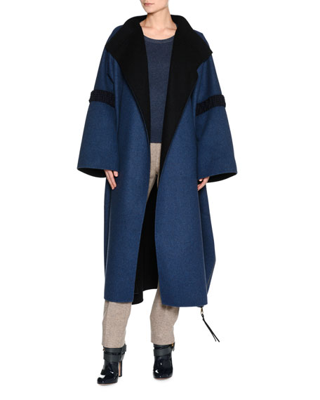 Agnona Bicolor Double-Face Cashmere Coat and Matching Items