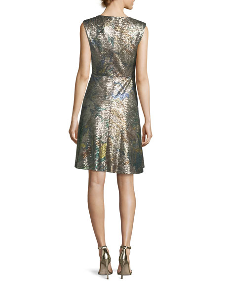 Sleeveless Sequined Magnolia Dress