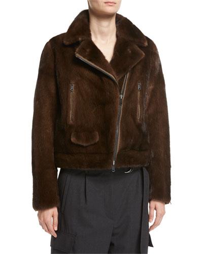 Reversible Mink Fur Moto Jacket