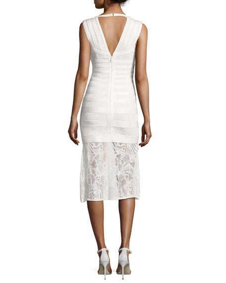 Isabela Pointelle Lace Midi Dress