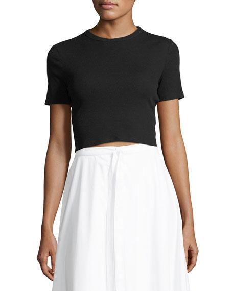 Rosetta Getty Cropped Rib Jersey T-Shirt and Matching