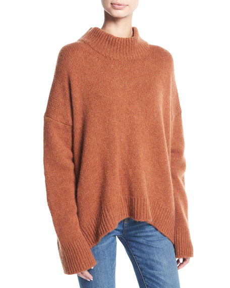 Brock Collection Kathleen Cashmere Mock-Neck Pullover