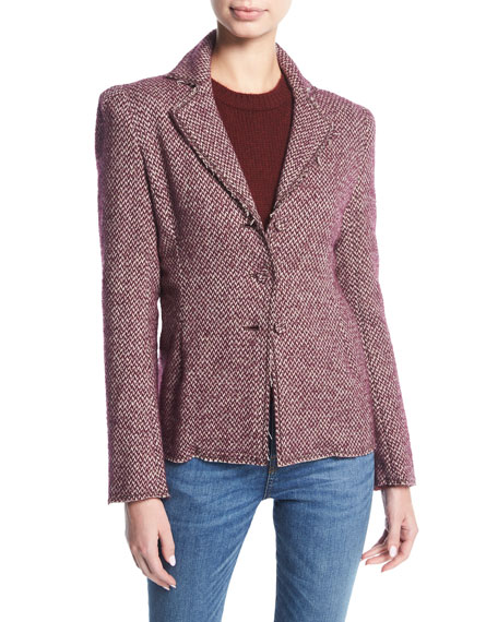 Brock Collection Jocelyn Tweed Blazer Jacket