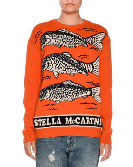 Stella McCartney Fish Logo Intarsia Sweater