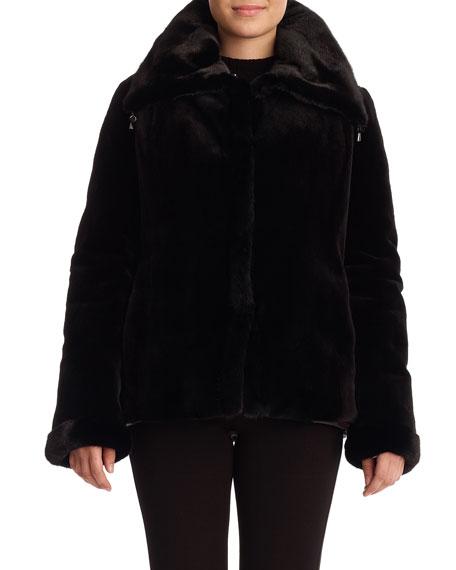 Sheared Mink Reversible Jacket