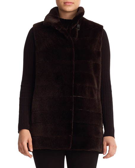 Reversible Sheared Mink Fur Vest