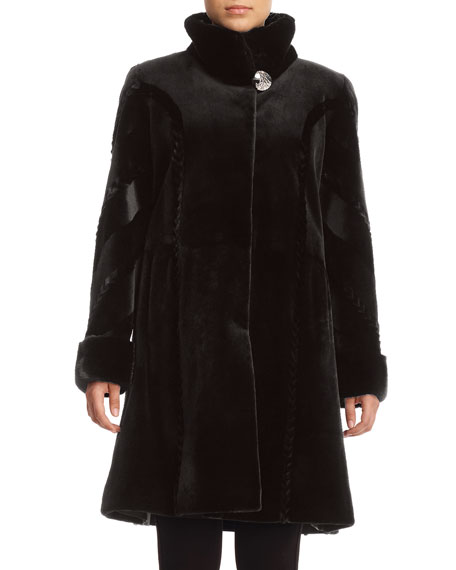 Sheared Mink Fur Reversible Stroller Coat