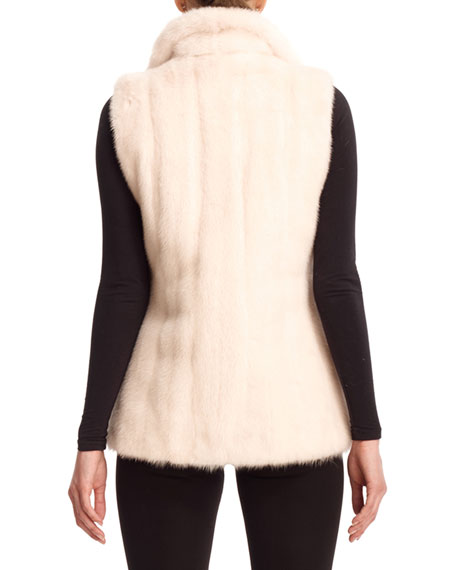 Reversible Mink Fur Down Vest