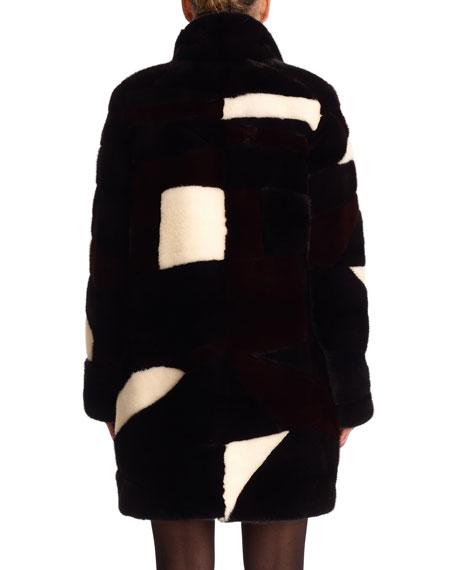 Mink Intarsia Reversible Stroller Coat