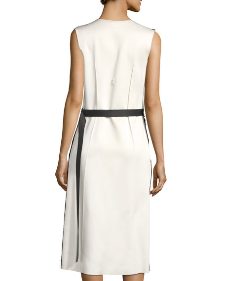 Derek Lam Sleeveless Embellished V-Neck Cocktail Dress