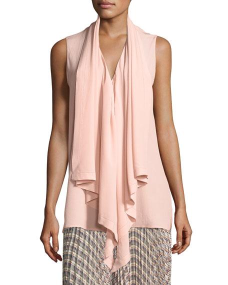 Pebbled Silk Handkerchief Blouse