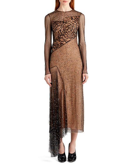 Jason Wu Pointe d'Esprit Knit Cocktail Dress