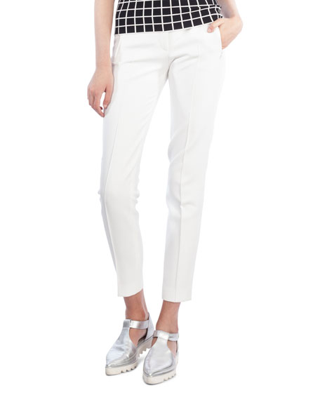 Akris punto Fabia Straight-Leg Jersey Stretch Ankle Pants