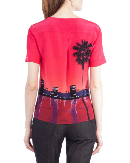 Sunset City Short-Sleeve Top