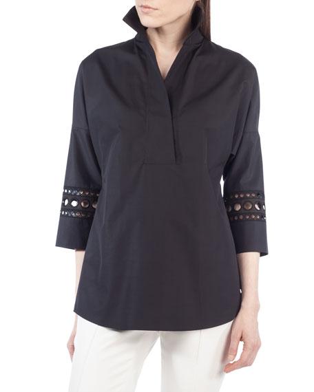 Akris punto Punto-Sleeve Kimono Blouse