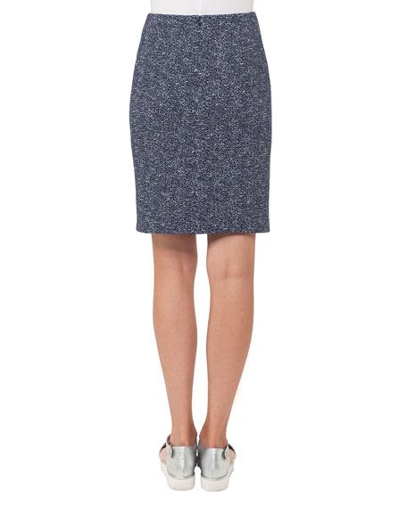 Stretch-Jacquard Mini Skirt