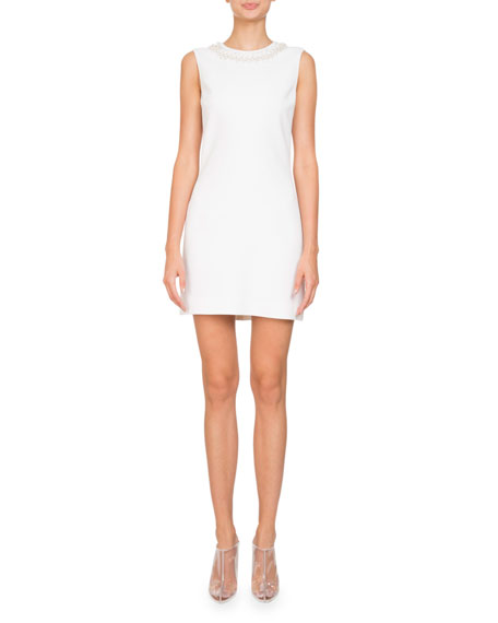 Givenchy Sleeveless Stretch-Cady Sheath Mini Cocktail Dress w/