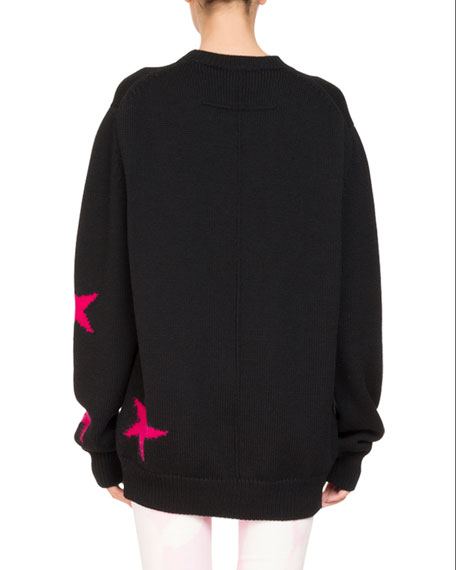 LONG SLV OVERSIZE STAR KNIT