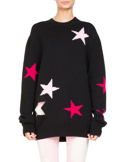 Givenchy LONG SLV OVERSIZE STAR KNIT