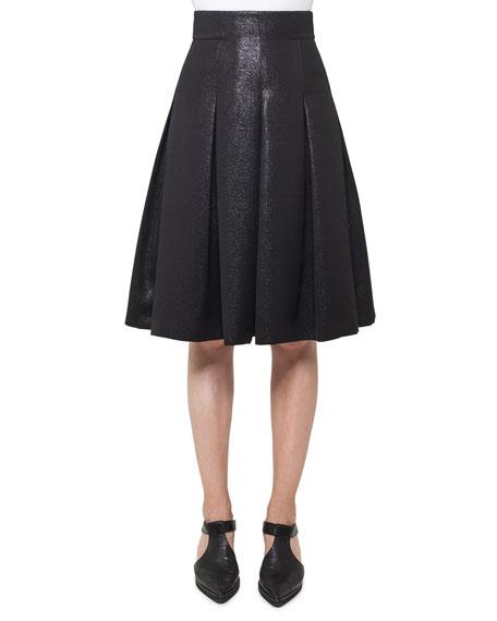 Back-Zip Short Crepe Pencil Skirt