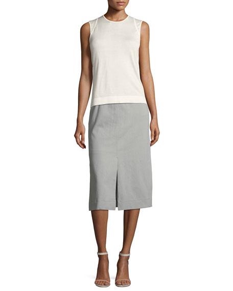 Slim Stretch-Denim Skirt