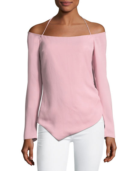 Cushnie Et Ochs Off-the-Shoulder Halter Stretch-Crepe Top with