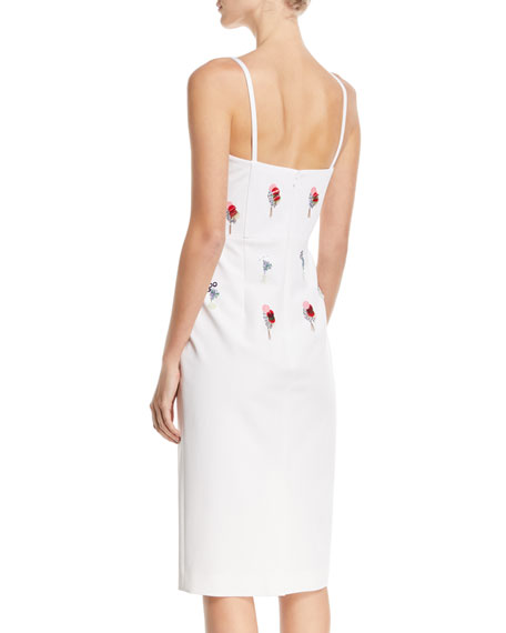 Jaclyn Bustier Dress with Eclipse Beading