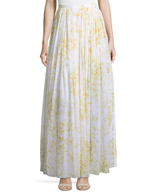 6cd0329f5662 Brock Collection Sweet Pea Floral-Printed Full Cotton Skirt
