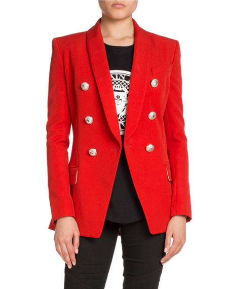 Oversized Double-Breasted Wool Blazer